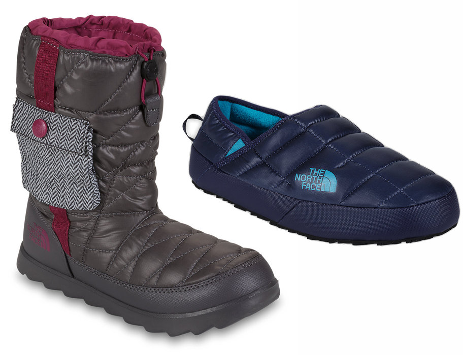 """The North Face Women's Thermoball Bootie & Men's Thermoball Traction Mule II: $80 & $50 We can't think of a better way to say """"I'm sorry"""" to your feet after putting them through ski boot abuse than to slip on one of TNF's many awesome Thermoball footwear options. Anything to make that drive too and from the mountains more comfy and enjoyable."""