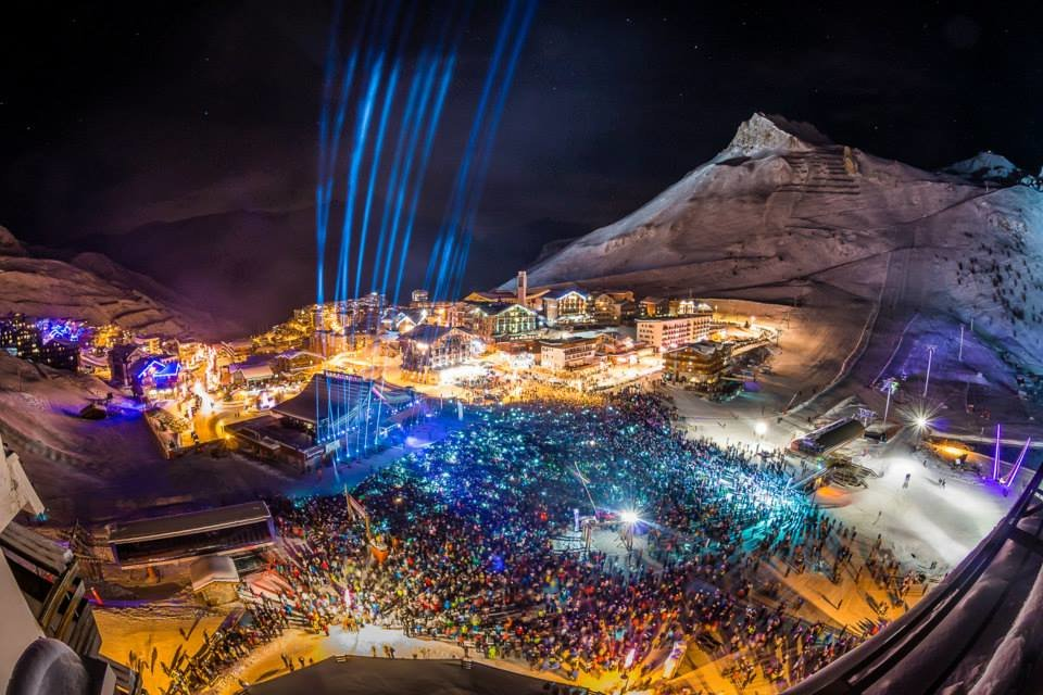 NYE on Europe's highest outdoor dancefloor, Tignes - © andyparent.com