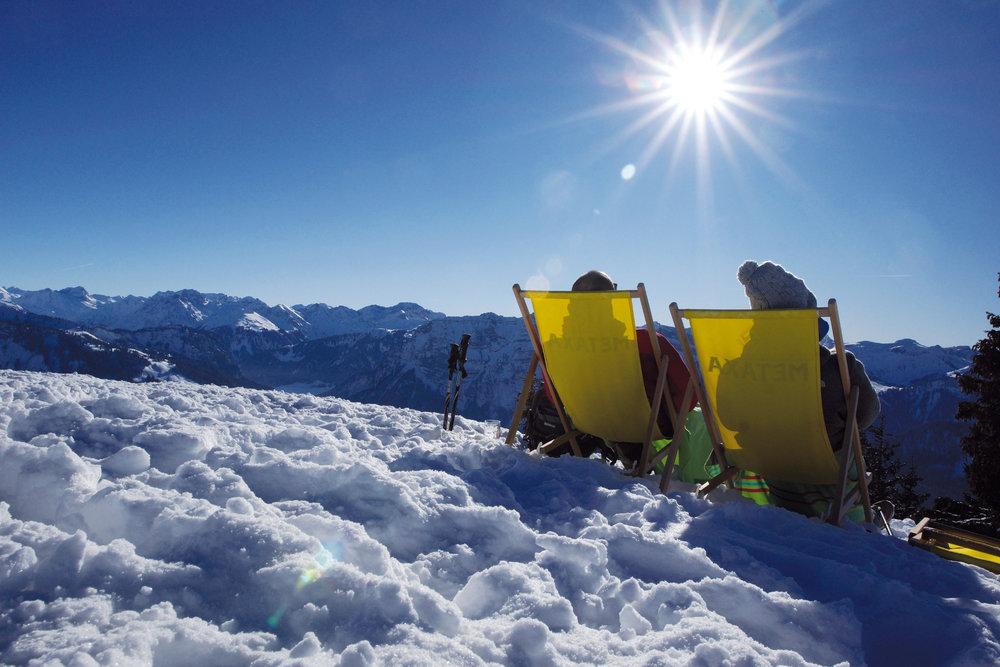 Sonnenskilauf im Skiverbund des 3TälerPass - © Ludwig Berchtold /Vorarlberg Tourismus