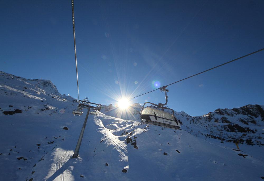Im Sessellift Eisjochbahn - © Skiinfo