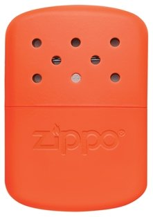 Zippo 12 Hour Blaze Orange Hand Warmer: $21.95 While we're unsure of whether you'd be able to stuff one of these into your glove/mitten, it'd be nice to have for those bone-chilling days when your hands refuse to warm up and you refuse to go in.