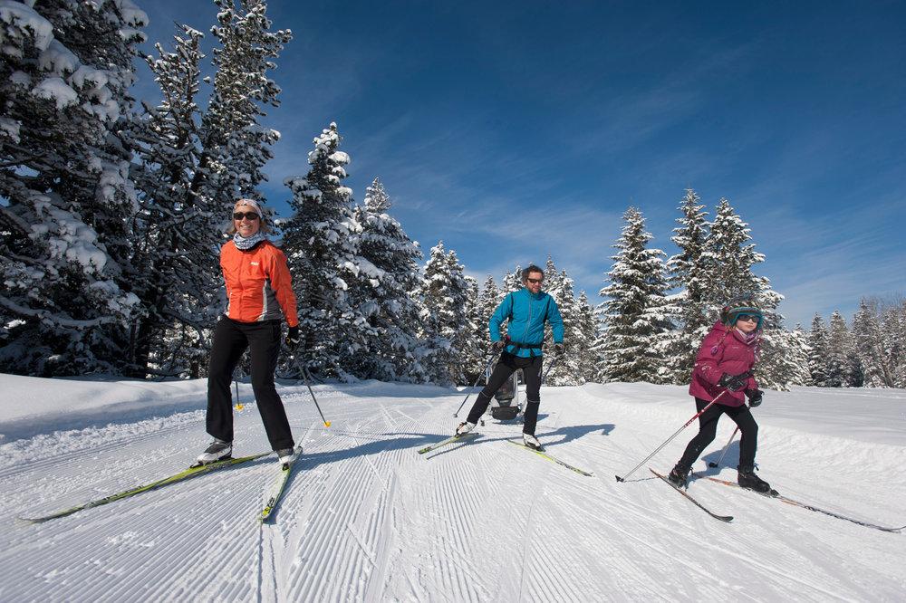 Ski de fond en famille sur le domaine nordique de Villard de Lans - © P.Rebreyend