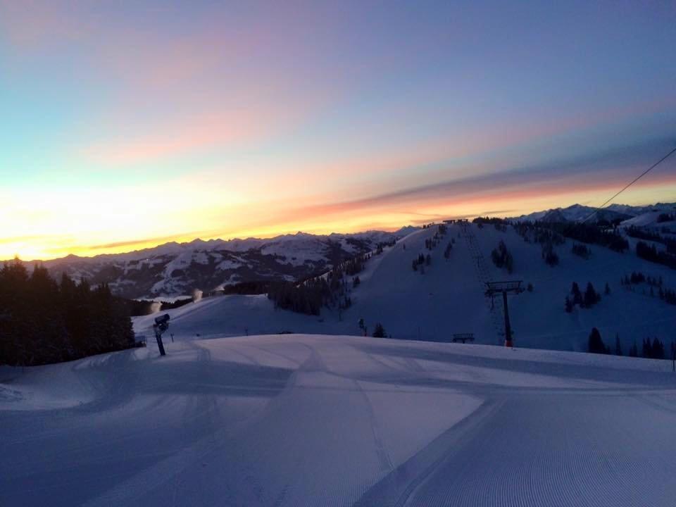Morgenlicht in der SkiWelt Scheffau - © Facebook SkiWelt Wilder Kaiser Brixental