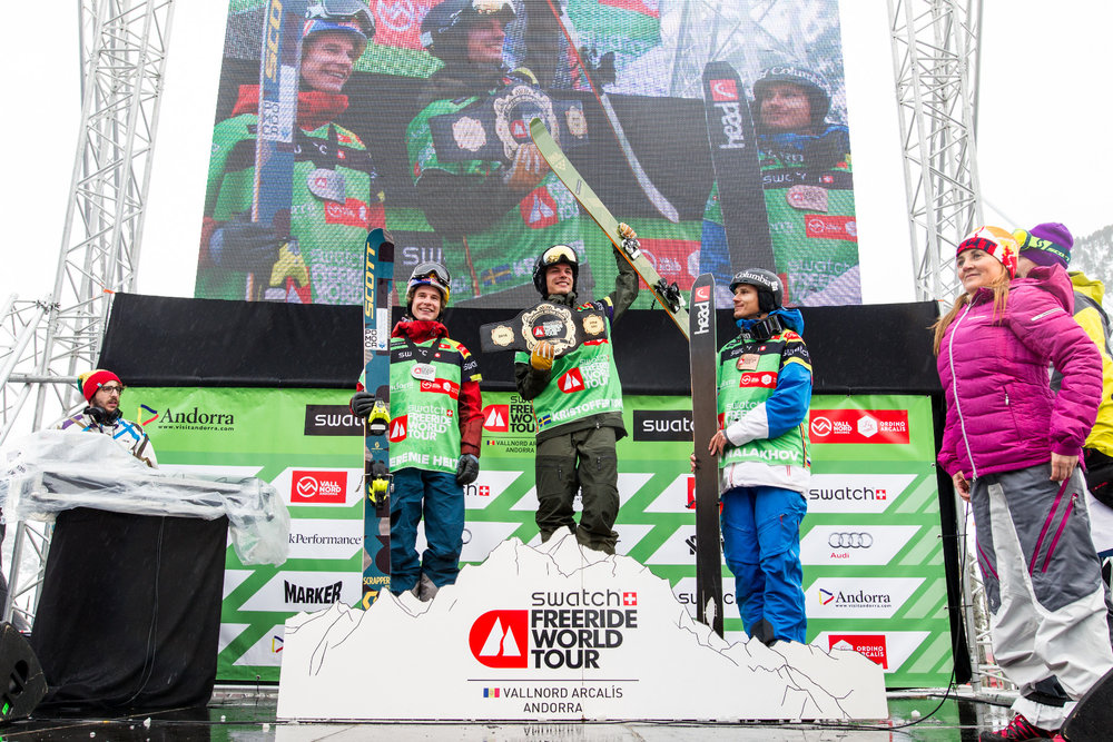 Víťazi v kategórii Lyže - muži | Freeride World Tour Andorra 2016 - © freerideworldtour.com | J. Bernard