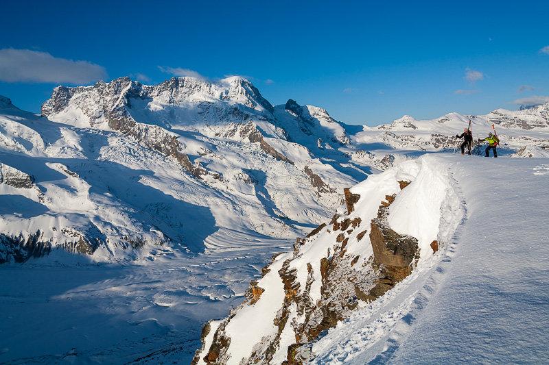 Hohtälligrat mit Monte Rosa Massiv, Skitour vom Gornergrat zum Stockhorn - © Iris Kuerschner, www.powerpress.ch