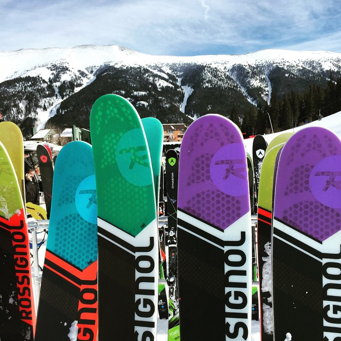 The new fleet of Rossignol skis for 2017. - © Krista Crabtree