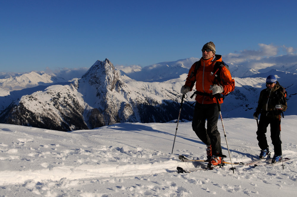 Skitour auf den Gipfel des Brechhorn, Blick auf Rettenstein - © Nobert Eisele-Hein