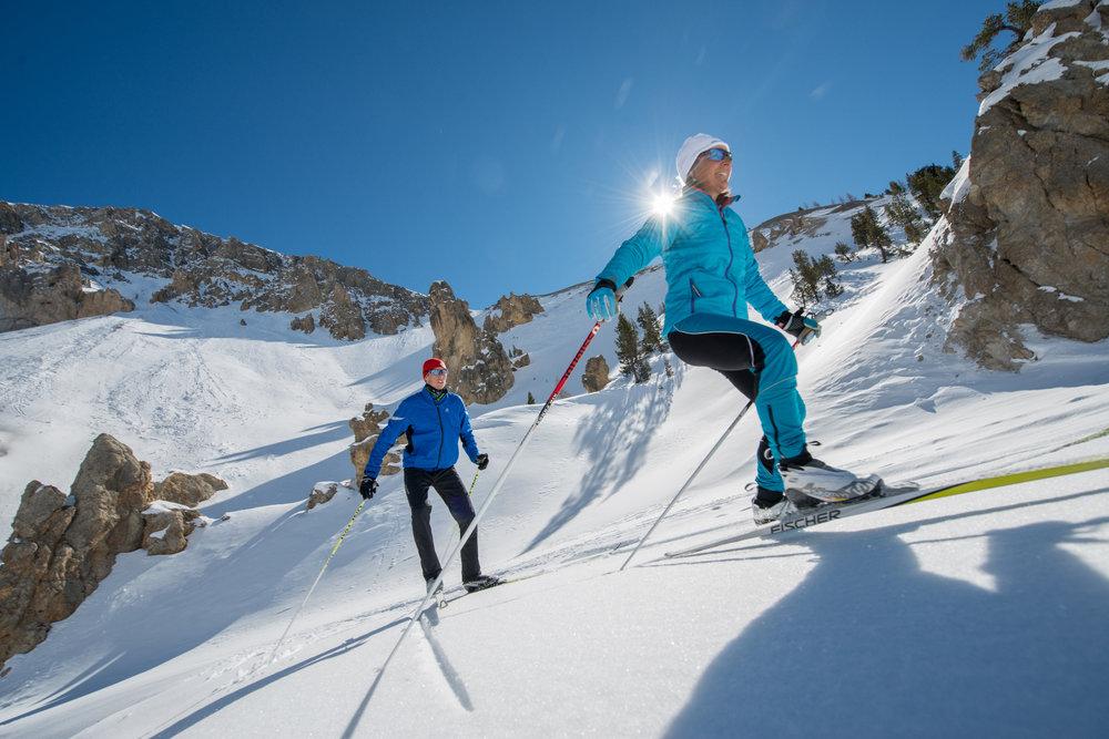 Le Queyras dispose également d'un très beau domaine de ski nordique (ici sur les hauteurs d'Arvieux) - © M. Molle / OT du Queyras