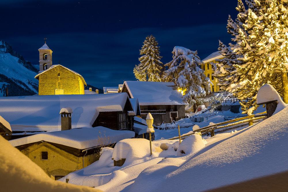 Ambiance hivernale à Saint Véran - © F. Amoros