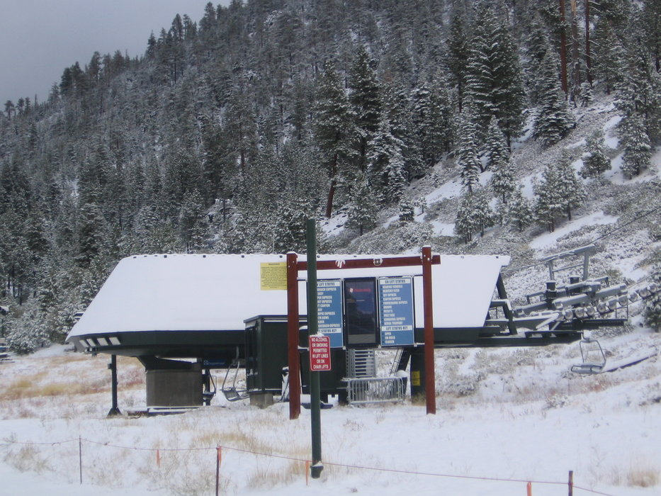 Heavenly lift station after first snow, Oct. 4, 2009