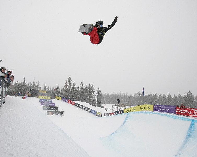 Kelly Clark at Copper, CO US Snowboarding Grand Prix .