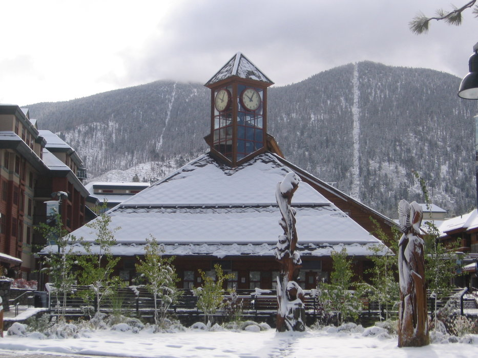 Heavenly lodge after first snow, Oct. 4, 2009