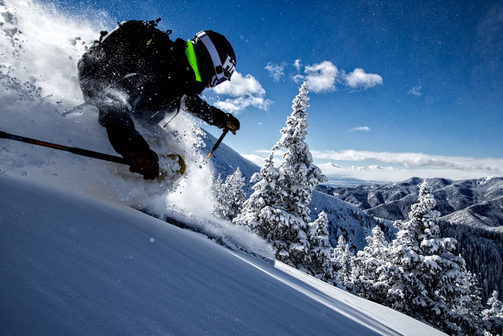 Mike Maroney in skier heaven at Taos Ski Valley. - © Liam Doran