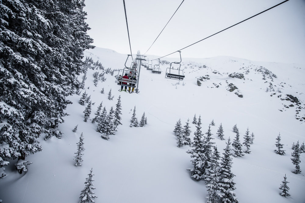 The 2014/15 ski season saw installation of Taos' new Kachina lift, granting skiers five-minute access to what was previously a 45-minute hike. - © Liam Doran