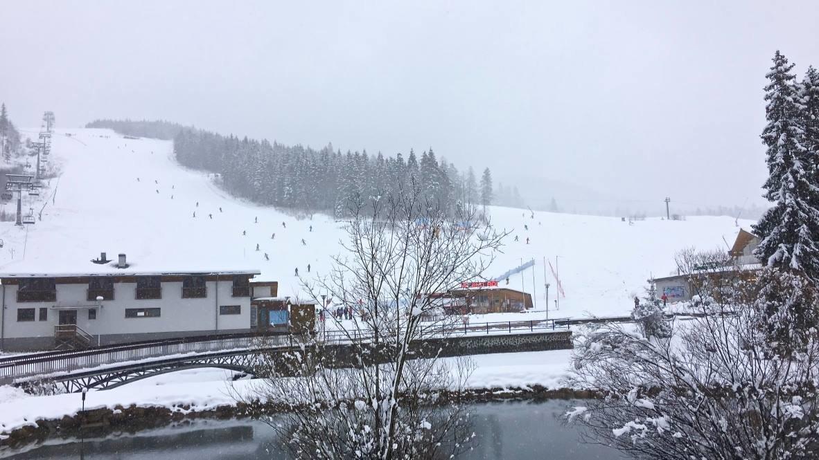 Čerstvý sneh v Skiparku Oravice 11.2.2016 - © Skipark Oravice facebook