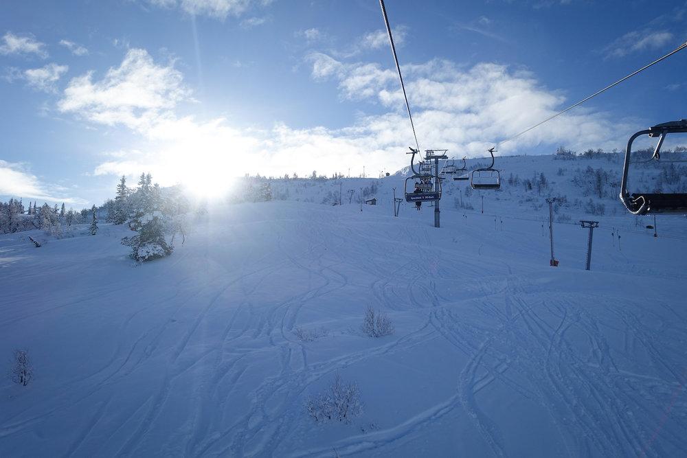 En nydelig februardag med sol og pudder på Voss. - © Eirik Aspaas