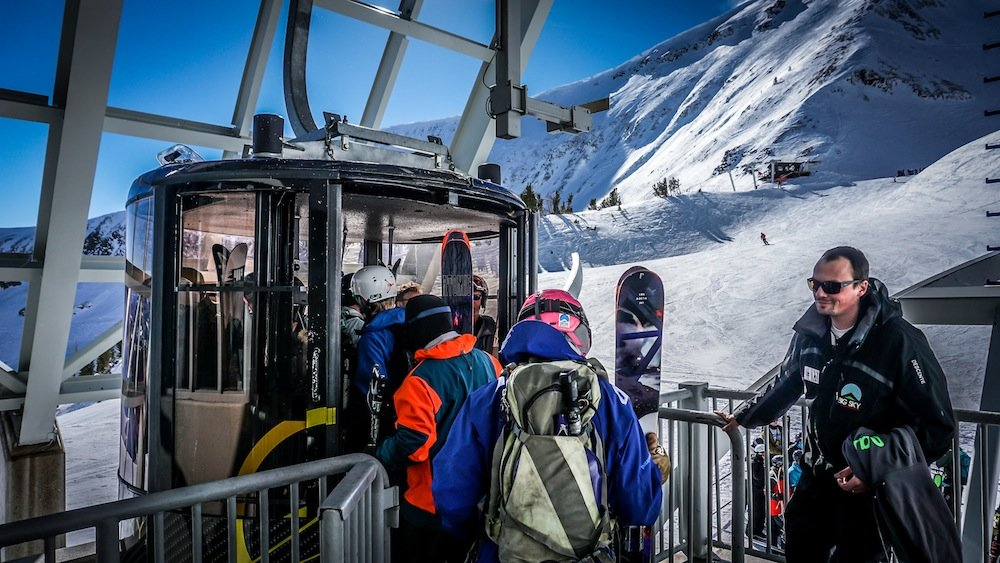 Scoot onto the Lone Peak Tram if you think you've got the stuff. - © Eric Slayman