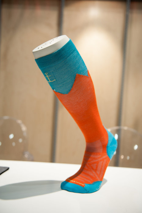 A new teched-out sock from Smartwool is merino-based with graduated compression in the heel and a very aggressive flex zone at the ankle. - © Ashleigh Miller Photography