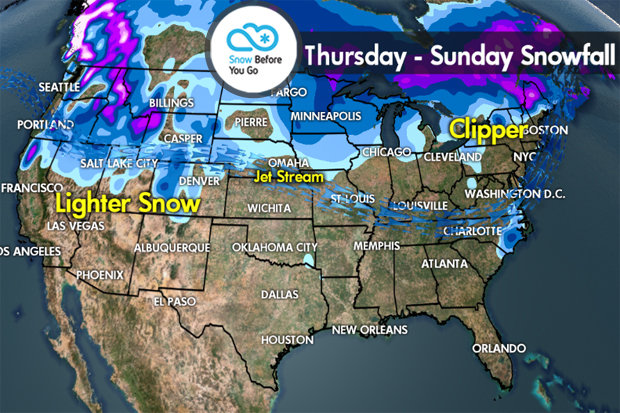 Snow Before You Go: Storm Track Shifts North - © Meteorologist Chris Tomer