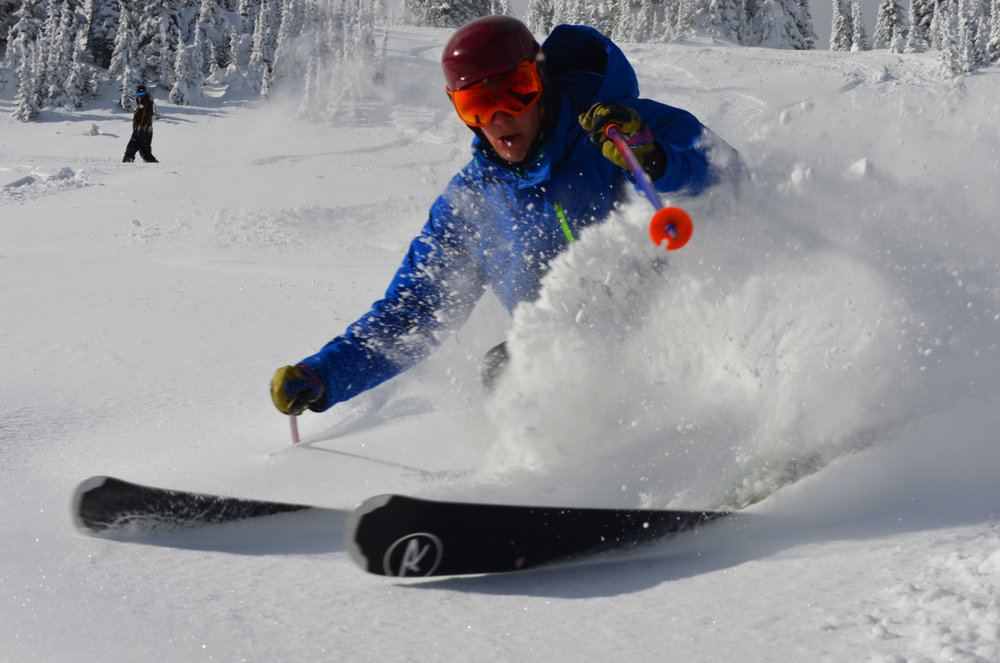 Fresh powder and sunshine in the new zone at Sun Peaks. - © Sun Peaks Resort