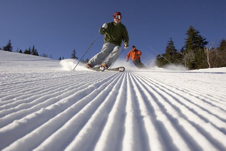 Cutting the corduroy at Sunday River in Maine. - © Sunday River
