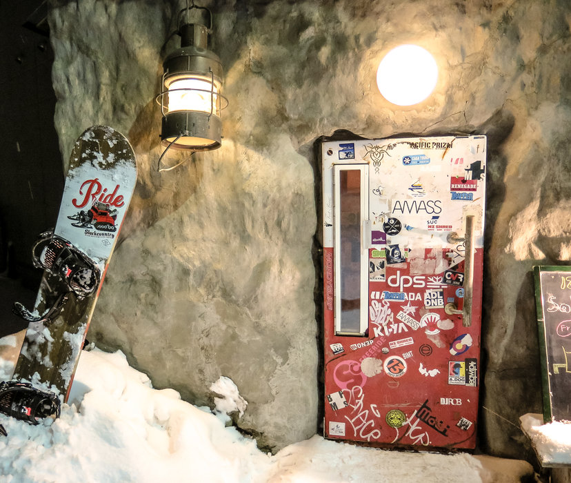 "Niseko has some funky bars including ""The Fridge,"" where inside the tiny door awaits great ambiance. - © Linda Guerrette"