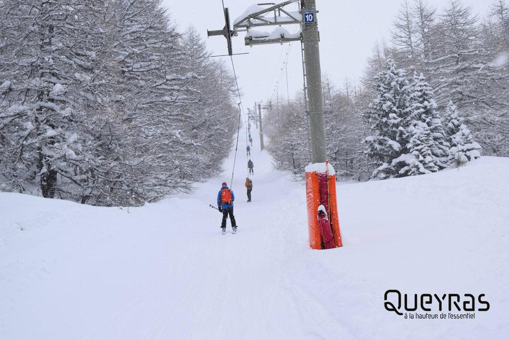 Jusqu 39 un m tre de neige fraiche tomb en 48h dans le queyras - Office du tourisme molines en queyras ...