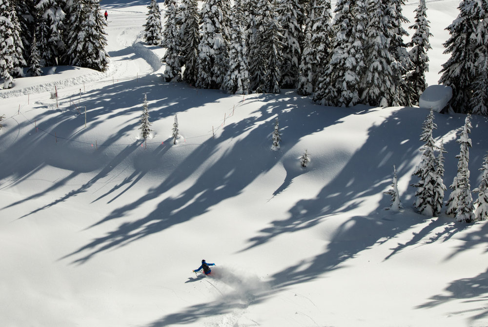 Whistler Blackcomb passed its decade average of snowfall in late March. - © Coast Mountain Photography