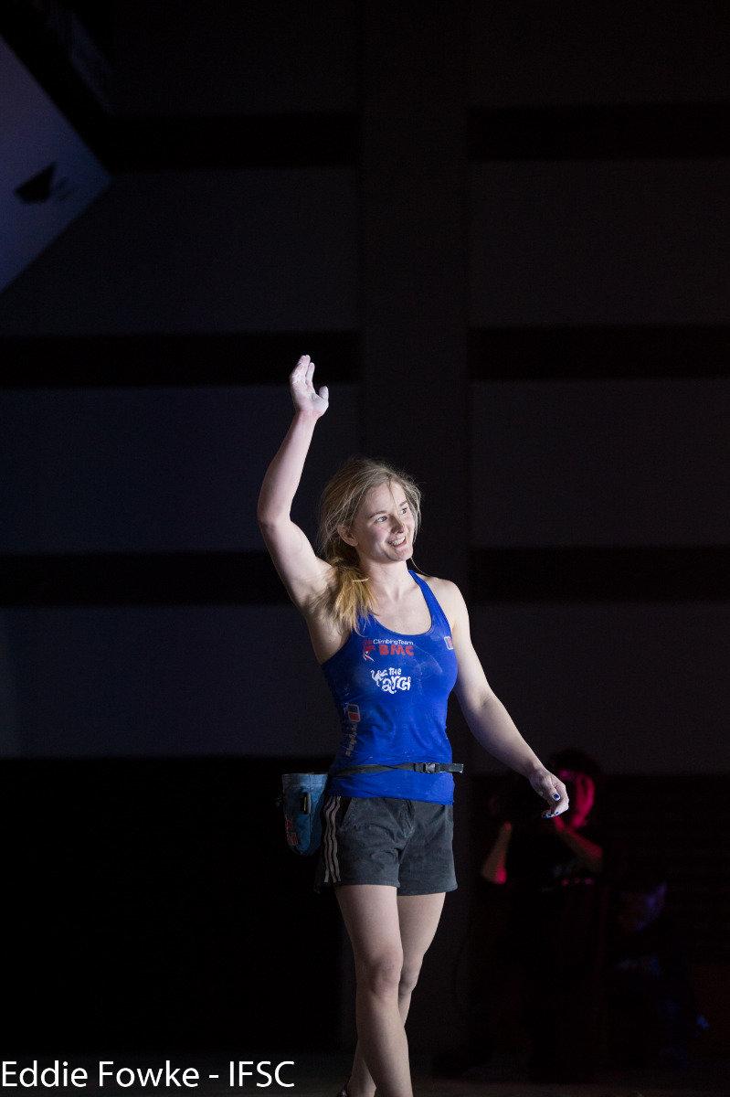 Siegerin Shauna Coxsey (GBR) - ©IFSC / Eddie Fowke