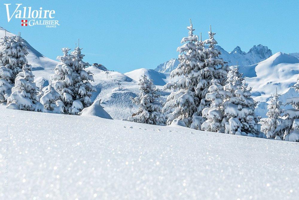Ambiance et paysage hivernal sur les hauteurs de Valloire - © Office de Tourisme de Valloire