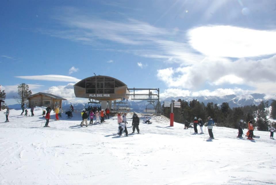 Sur les pistes de ski des Angles (secteur du Pla Del Mir) - © Office de Tourisme des Angles