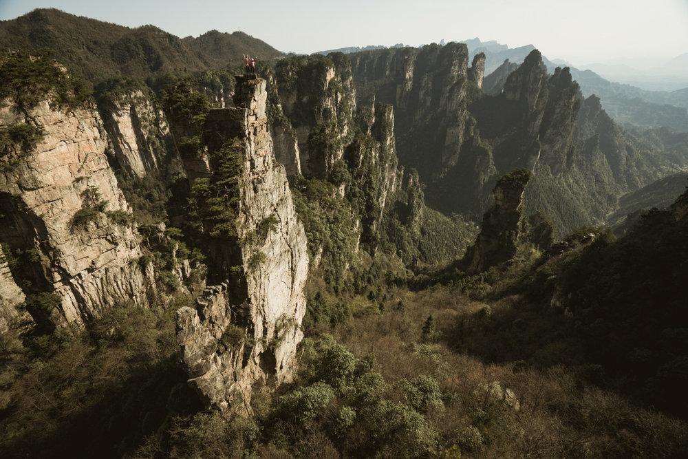 Ausblick nach dem Ausstieg aus Beijing Belly (5.11a) - ©adidas outdoor | Franz Walter
