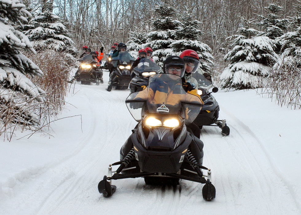 Snowmobiles at Seven Springs PA