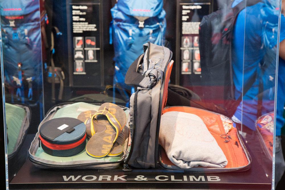 Für städtische Kletterfans 1a: Gut aufgeteilter Rucksack von Mammut, in dem Business- und Kletterzeug gut getrennt werden können - ©Bergleben.de