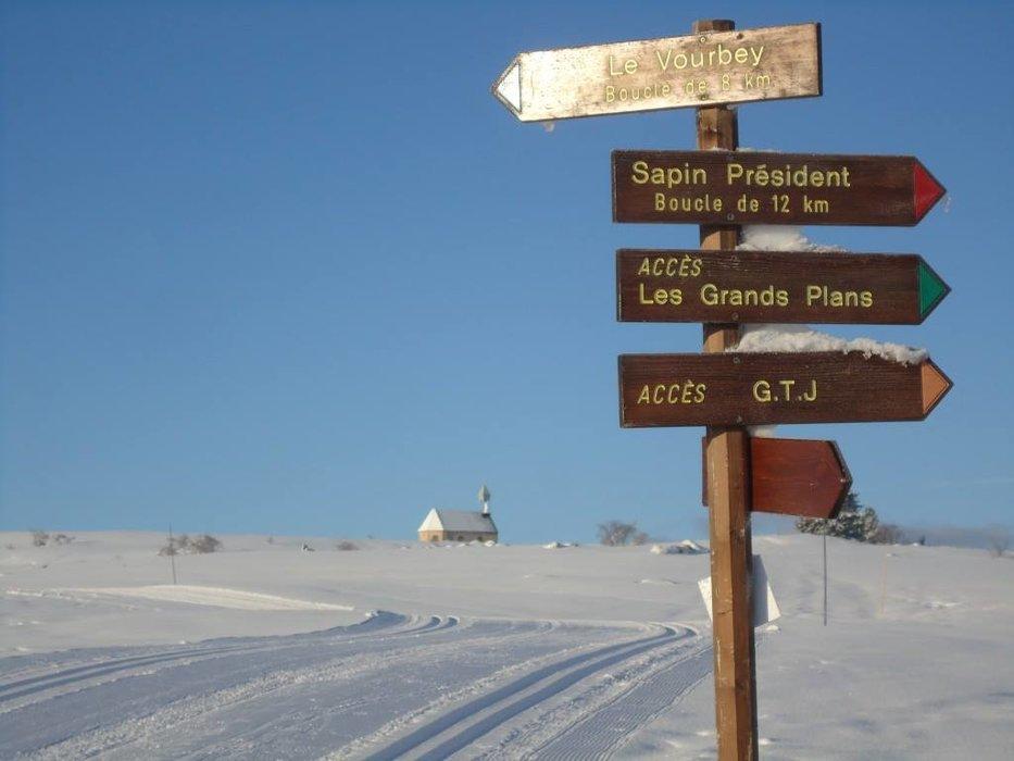 Sur le domaine de ski nordique des Fourgs - © Les Fourgs Tourisme