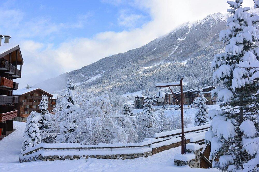 Réveil sous la neige à Valmorel - © OT de Valmorel