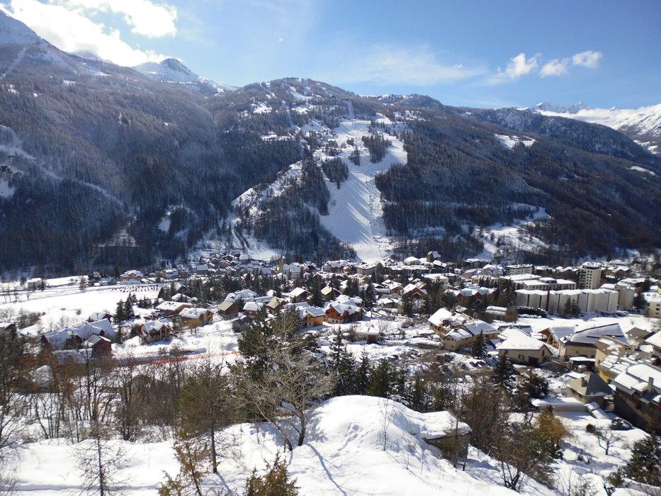 Vue sur la station de ski de Serre Chevalier - © Office de Tourisme de Serre Chevalier