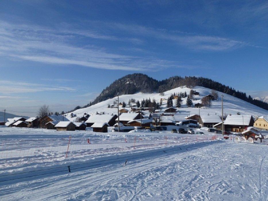 Paysage de carte postale aux abords de la station de ski de Romme - © Office de Tourisme Intercommunal Communauté de communes Cluses Arve & montagnes