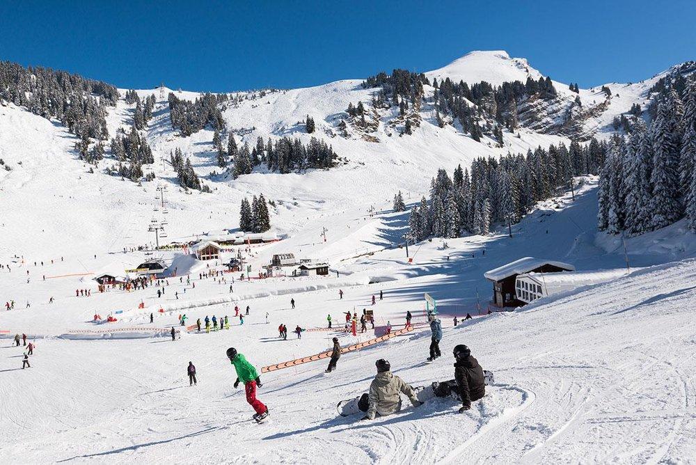 Sur le plateau de la Lécherette, domaine skiable de Montriond/Avoriaz - © Office de tourisme de la Vallée d'Aulps