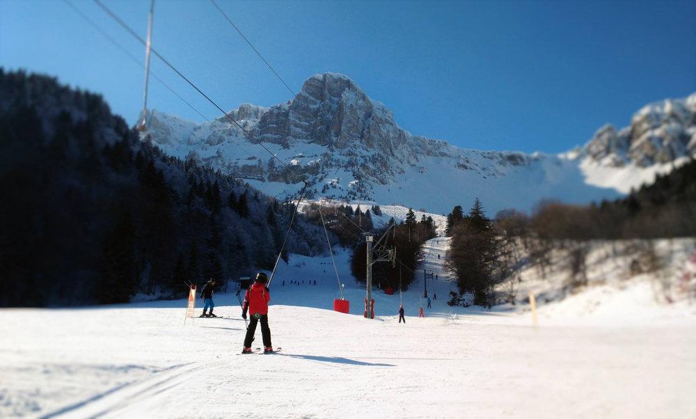 En route pour les pistes de ski de Gresse en Vercors - © Office de Tourisme de Gresse en Vercors
