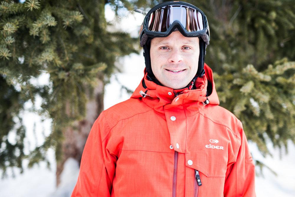 Dave March (37) er en erfaren skiløper, og han var inntil nylig ansatt ved Park City i Utah.  - © Liam Doran