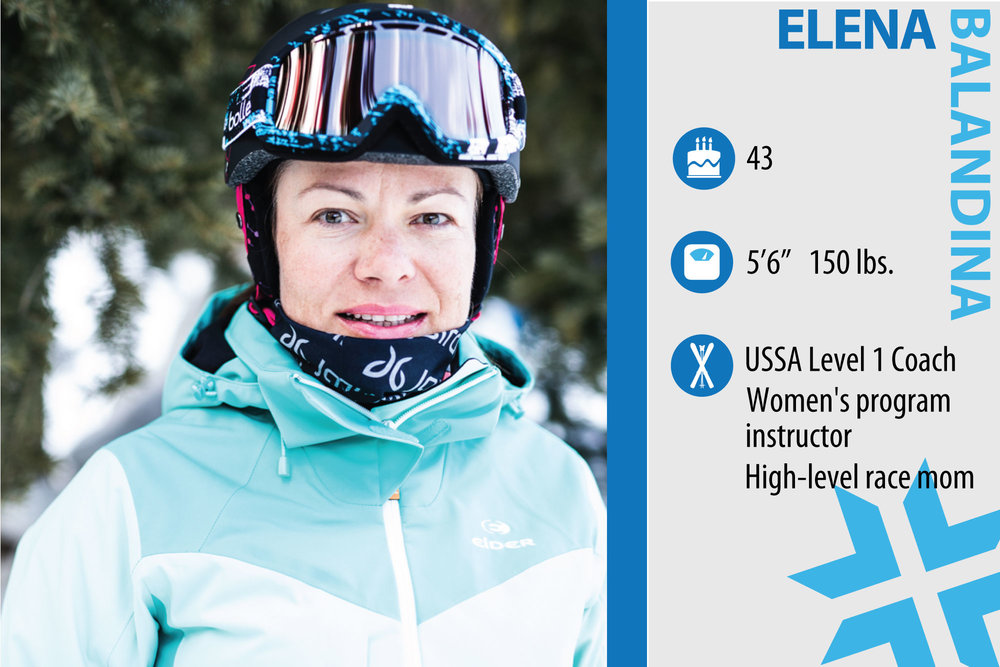 "Elena Balandina. Job in real life: Loveland Ski instructor, Kettlebell fitness instructor. Something from ski history that should make a comeback: ""Snow blades. They are great for balance and for figuring out how your body should go down the hill."" - © Liam Doran"