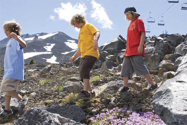 Hikers on Mt. Bachelor can chop off some of the climb by taking the chairlifts. - © Mt. Bachelor Resort