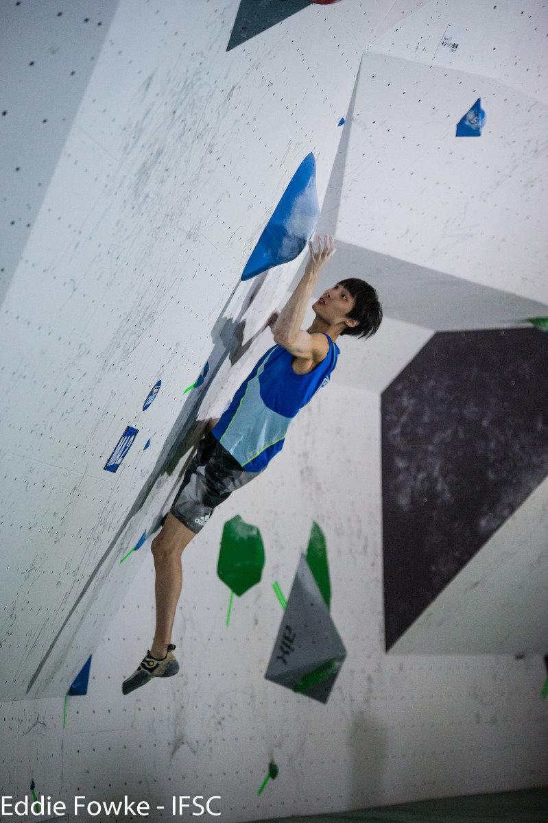 Sachi Amma (JAP) beim IFSC Boulder-Weltcup in Kazo (JAP) - © IFSC / Eddie Fowke