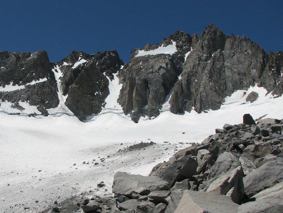 Palisade Glacier beneath North Palisade Peak. - © Jeffrey Roe