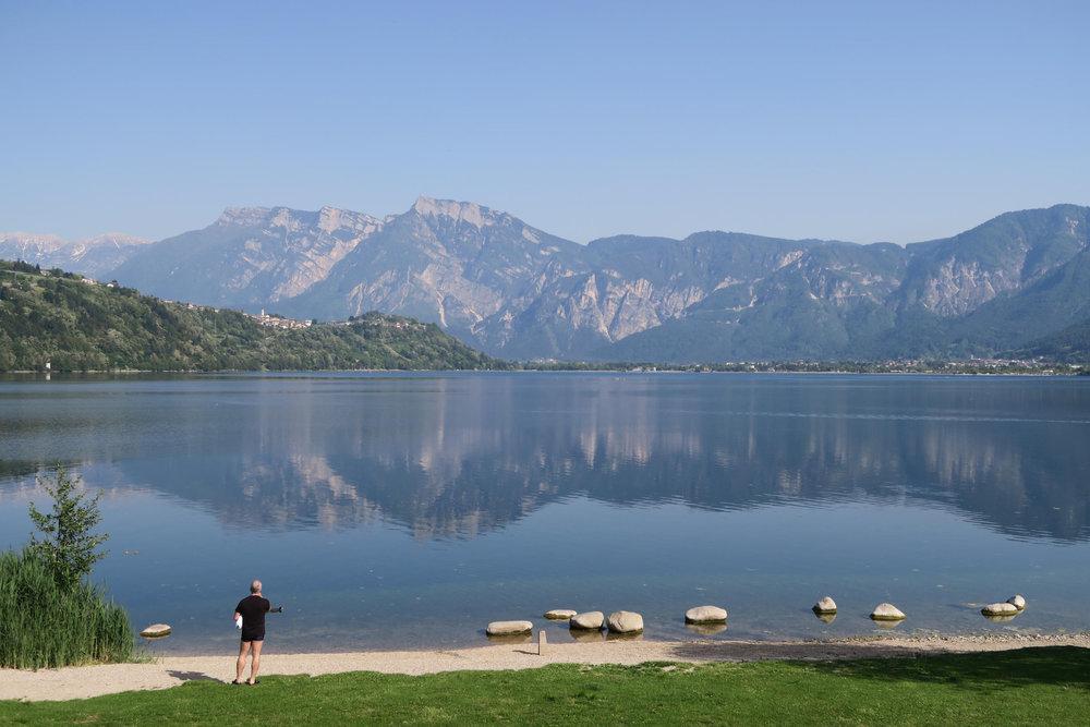 Lago di Caldonazzo im  Valsugana östlich von Trient,  zweitgrößter See des Trentino  - © Armin Herb