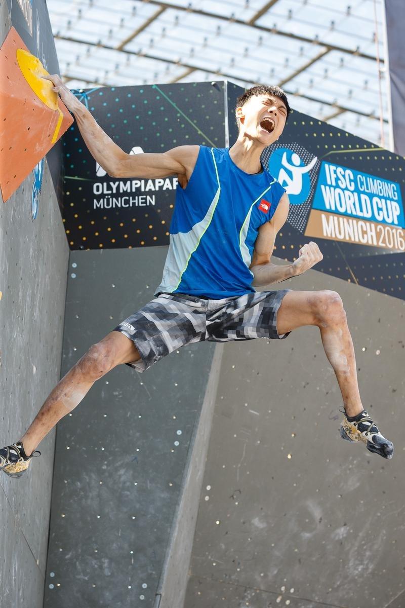 Am Top: Der Koreaner Jongwon Chon - © DAV / Marco Kost