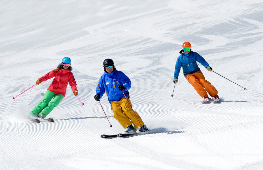 Skiing the corduroy at Winter Park. - © Winter Park