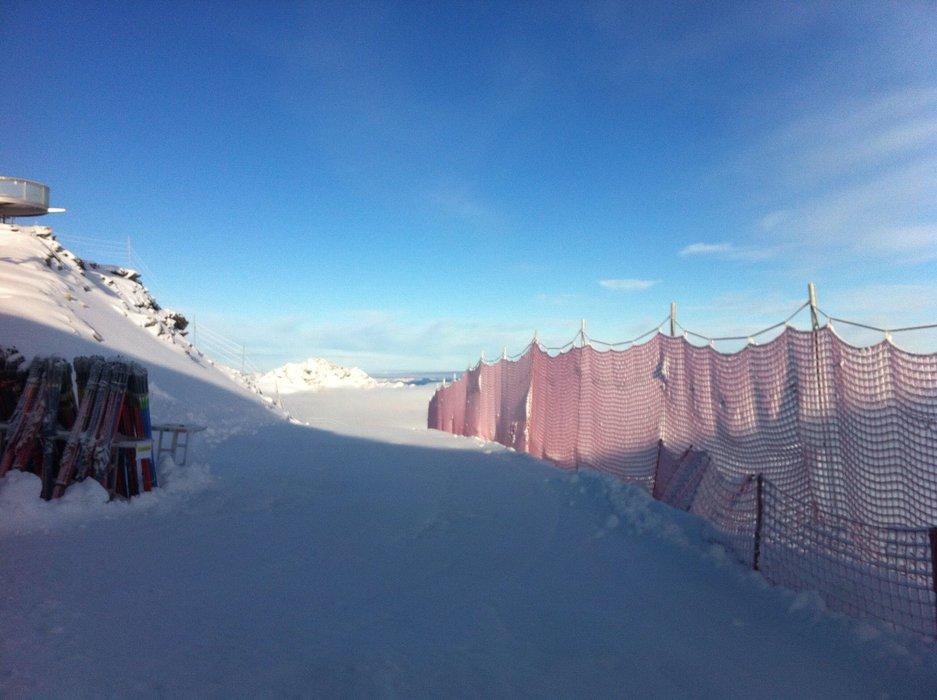 Frischer Schnee überraschte den Pitztaler Gletscher - © Michi Weber