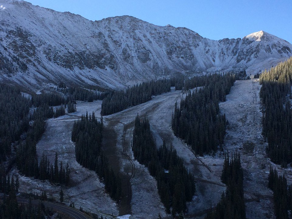 Arapahoe Basin Ski Area gets a layer of frosting this September. - © Arapahoe Basin Ski Area